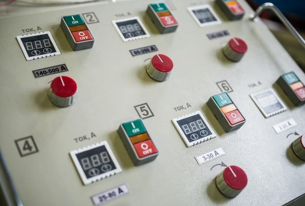 Pannello per impostazione corrente su conduttori