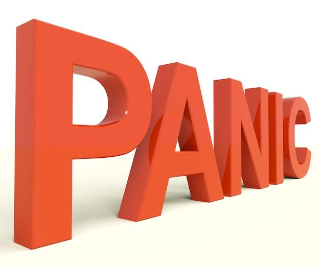 Lettere di panico come simbolo di emergenza e stress