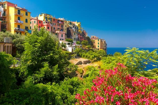 Panorama di corniglia, cinque terre, liguria, italia