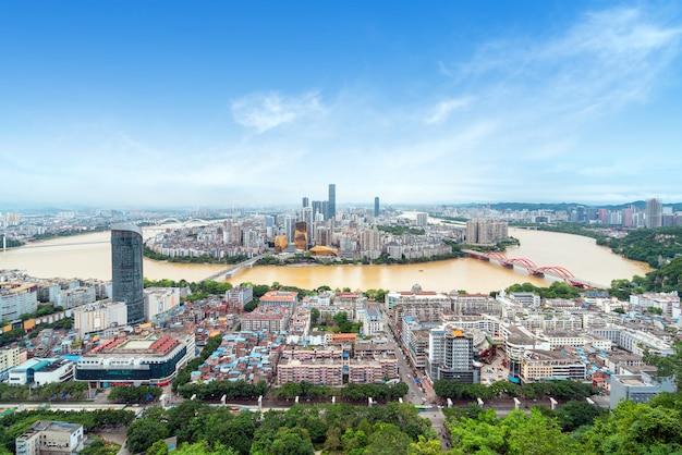 Panorama di liuzhou, guangxi, cina