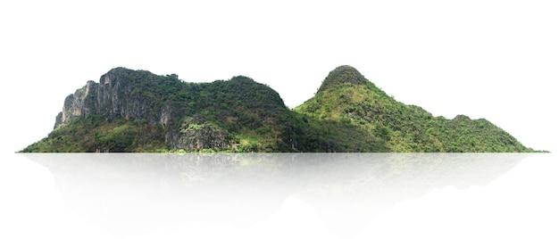 Panorama di montagna con albero isolato