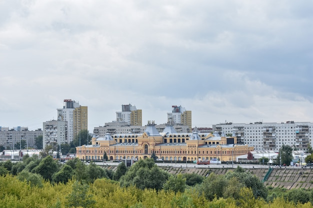Panorama di nizhny novgorod. equo