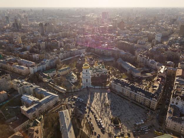 Panorama vista paesaggio a kiev