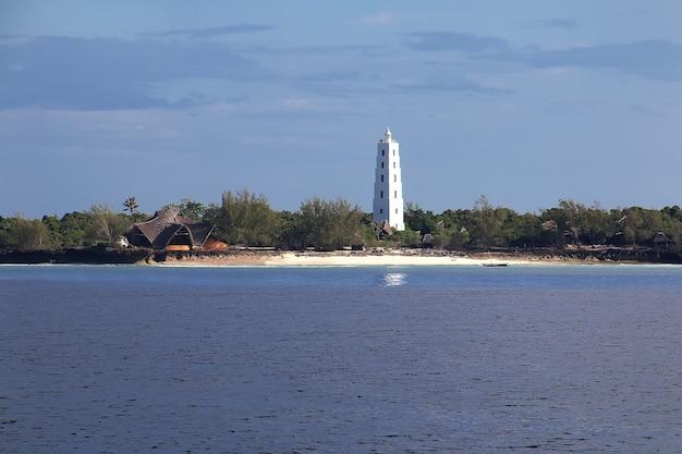 La vista panoramica di zanzibar in tanzania