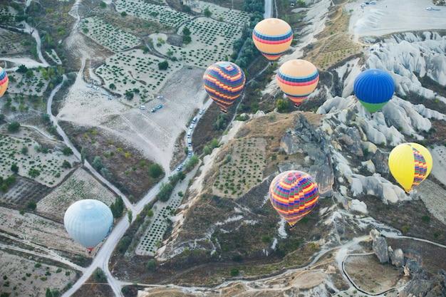 Vista panoramica della cappadocia - turchia