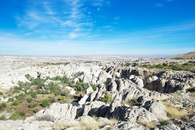 Vista panoramica della cappadocia