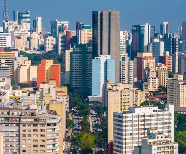 Vista panoramica del centro cittadino di san paolo.