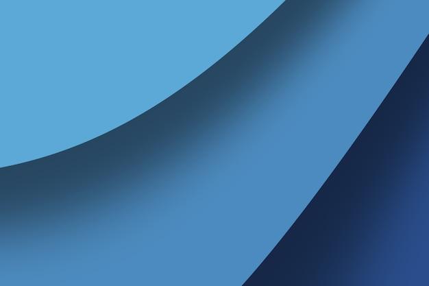 Sfondo di onde astratte di arte di intaglio della carta nei colori blu intenso.