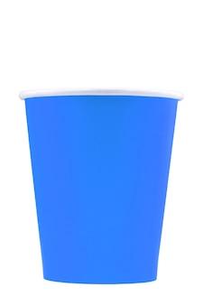 Bicchiere di carta per bevande isolato su sfondo bianco