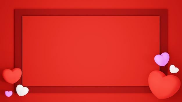 Carta tagliata sfondo impostato su sfondo rosso celebrazione concetto per donne felici, papà mamma, dolce cuore, banner o brochure auguri di compleanno carta regalo design