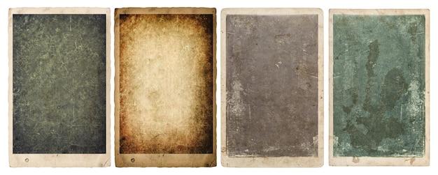 Fogli di carta e cornici per foto con bordi isolati