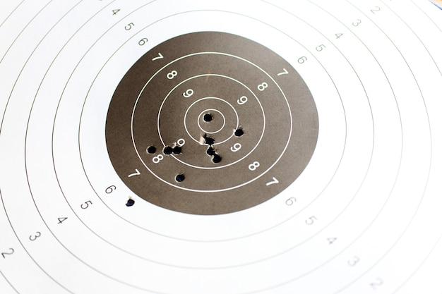 Obiettivo di carta per le esercitazioni di tiro
