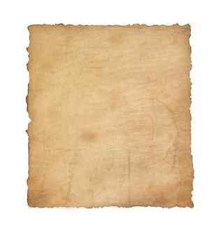 Pergamena vintage di carta isolata su bianco