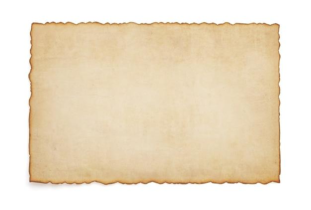 Pergamena vintage di carta su bianco