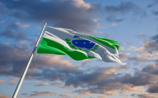 Bandiera dello stato del brasile parana. grafica 3d