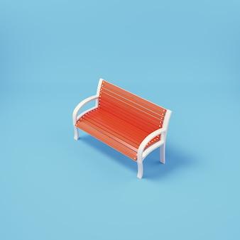 Una panchina nel parco sul blu brillante