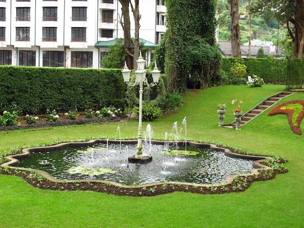 Il parco dell'hotel vintage a nuwara eliya, sri lanka