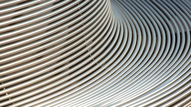 Parte di una panchina da esterno in metallo