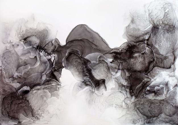 Parte della pittura originale dell'inchiostro dell'alcool, macro foto