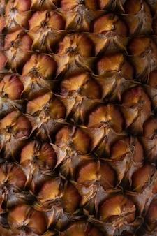 Parte della buccia di un ananas maturo