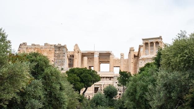 Tempio del partenone dell'acropoli di atene, centro di atene, grecia