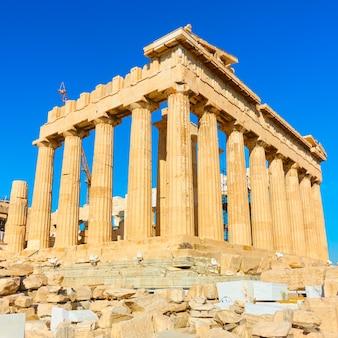 Il tempio del partenone in acropoli di atene, grecia