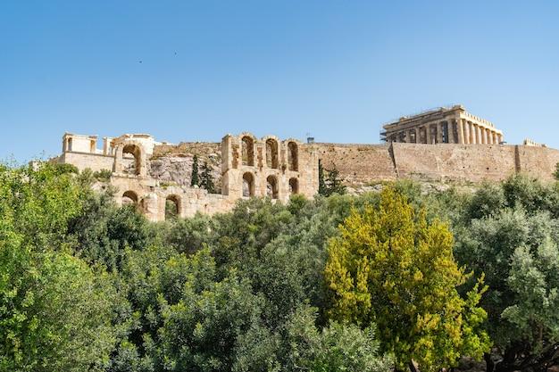 Tempio del partenone nell'acropoli di atene