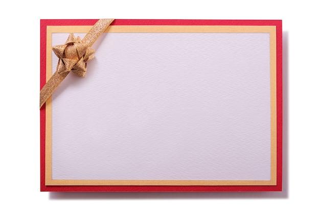 Invito alla festa invito carta decorazione fiocco oro