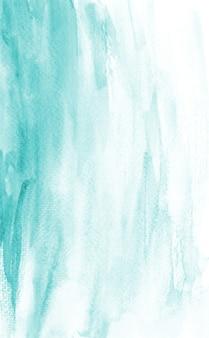 Sfondo di pittura astratta disegnata a mano di struttura dell'acquerello blu pastello originale organico fatto a mano