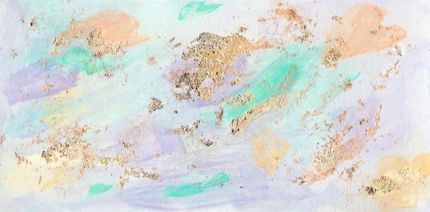 Disegno del tratto di vernice di colore pastello con stampa di carta da parati del libro di copertina del modello moderno di lamina d'oro