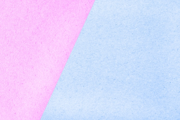 Struttura dell'estratto della scatola di carta di superficie colorata pastello per fondo, rosa e blu