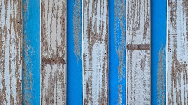 Legno pastello in legno bianco blu con la consistenza della plancia parete di fondo sensazione di sembrare vecchio e bello