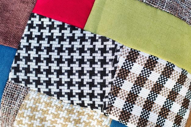 Un cuscino patchwork visto da vicino