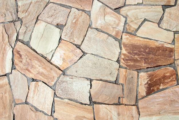Percorso in giardino giapponese. percorso di pietra. sfondo di pietra naturale. pietra per i sentieri