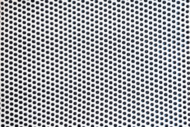 Modello di linee di punti neri su superficie bianca come sfondo