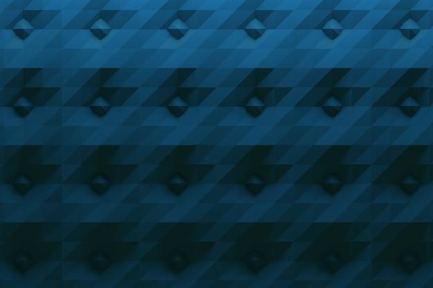 Motivo in colore blu scuro con punte e superficie piegata