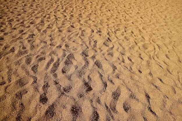 Modello dell'ondulazione della sabbia sulla duna di sabbia di siloli, bolivia