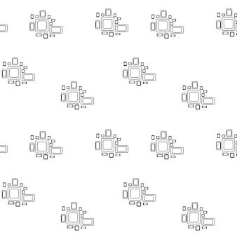 Modello con colori bianco e nero utilizzato per tessuto tessile per pagina web carta da parati