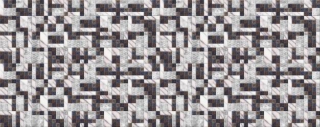 Piastrelle in pietra naturale a motivi geometrici. decorativo. trama di sfondo