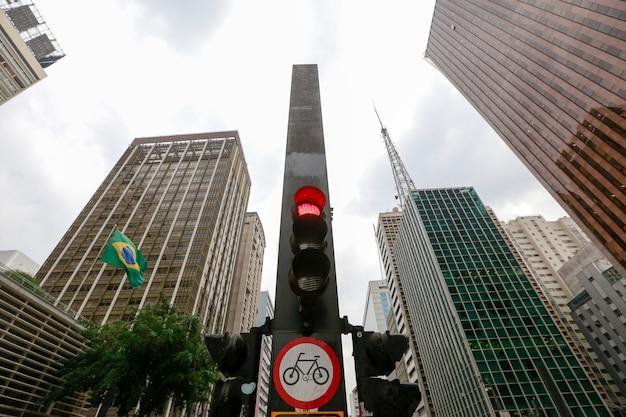 Paulista avenue, sao paulo, brasile Foto Premium