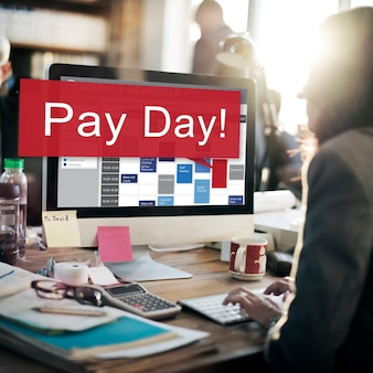 Giorno di paga economia stipendio denaro budget concept