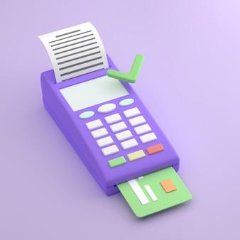 Terminale pos pagamento approvato