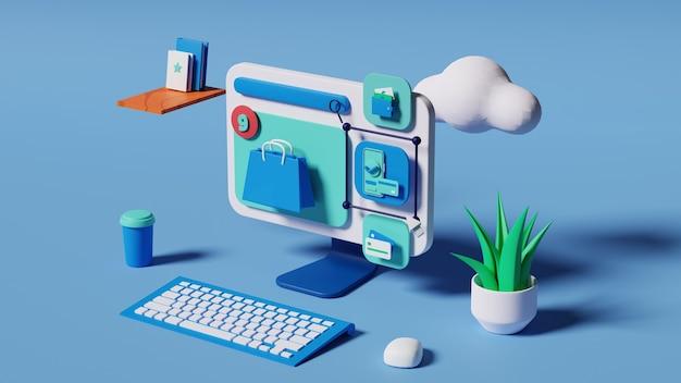 Metodi di pagamento illustrazione 3d render