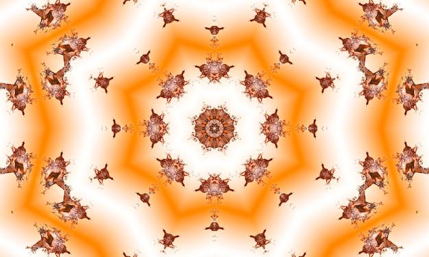 Peach e beige alba astratta scoppio di raggi. prospettiva con linee di concentrazione. sfondo estivo groovy e psichedelico.