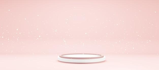 Piedistallo per modelli di mockup con spazio copia colori pastello mostra prodotto illustrazione 3d