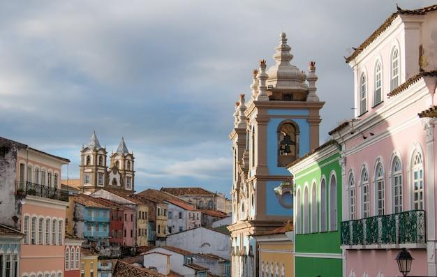 Centro storico pelourinho di salvador bahia brasile.