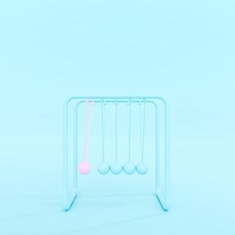Pendolo isolato su sfondo blu pastello