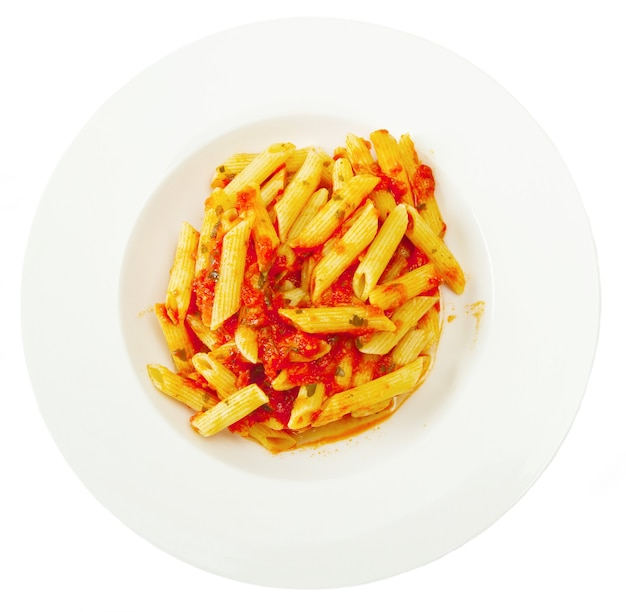 Penne con salsa di peperoncino arrabiata