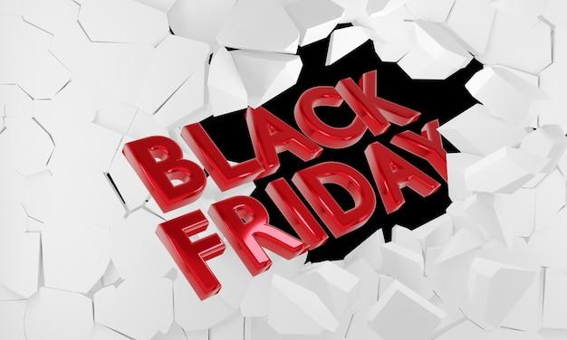 Idea di venerdì nero di vendita di percentuale nella rappresentazione 3d