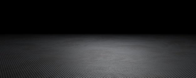 Piastra metallica scura perforata scena di sfondo